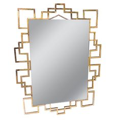 1970s Mirror | From a unique collection of antique and modern mantel mirrors and fireplace mirrors at…