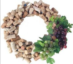Cork wreath.....this one is good all year round