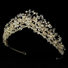 Gold Plated- really cool keepsake ornament! Even though it is a bit much...Enchanting Gold Crystal Bridal Tiara HP 2210