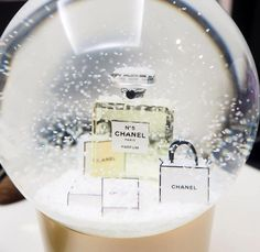 NWT, authentic Chanel snow globe version 2015, haute gamme VIP gift for perfume No. 5 by JijiVintage on Etsy https://www.etsy.com/listing/229638915/nwt-authentic-chanel-snow-globe-version