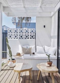Breeze Block Wall, Palm Springs Style, Palm Springs Houses, Small Patio, Spring Home, Home Decor Trends, Inspired Homes, Home Interior, Outdoor Living