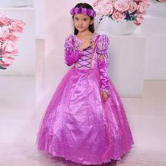 (37.99$)  Know more  - Fantasia Vestidos girl wedding dress princess dresses girl rapunzel costume kid rapunzel dress Princess costume girl party dress