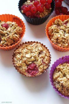 Lekki brzusio.: Fit muffinki owsiane Diet Recipes, Sweets, Breakfast, Healthy, Fitness, Food, Diet, Morning Coffee, Gummi Candy