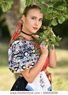 "Stock fotografie ""Slovakian Folklore Traditional Costume"" (k okamžité úpravě) 698459299 Folk Costume, Costumes, Popular, Marceline, High Quality Images, Photo Editing, Royalty Free Stock Photos, Traditional"
