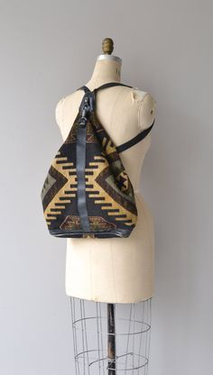 Kilim Backpack woven southwest backpack kilim bag by DearGolden