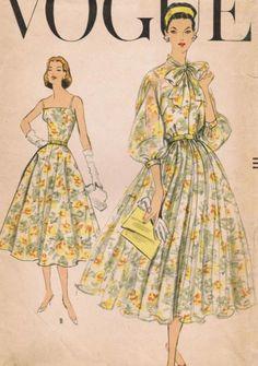 Vogue 9105, ca 1957; Sz 12/Bust 32