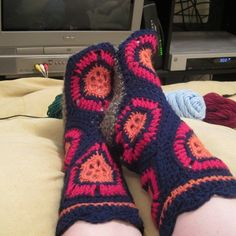 crochet Hexagon Boots free pattern