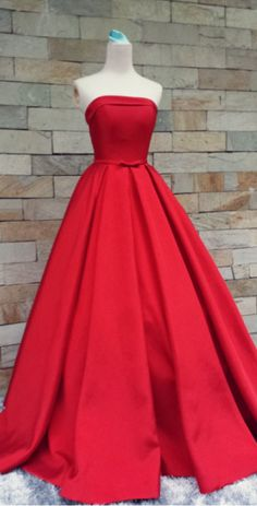 Red Prom Dresses,Simple Prom Dress