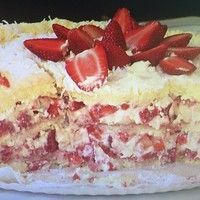Strawberry Shortcake Cake - A fluffy vanilla sponge cake filled with layers of whipped cream frosting and juicy strawberries. The classic flavors of strawberry shortcake in a rustic, yet elegant layer cake.