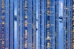romain jacquet-lagrèze captures hong kong's blue moment in photo series