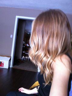 Layered dark blonde hair