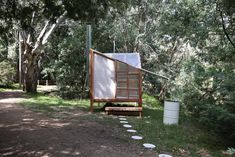 studio rain revives bathing culture with an off-grid sauna installation in melbourne Saunas, Building A Sauna, Building A House, Prefabricated Structures, Sauna Design, Ritual Bath, Small Buildings, Construction Process, Garden Office