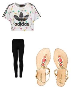 """""""school style"""" by grace-omambia ❤ liked on Polyvore featuring Wolford, adidas Originals and Lilly Pulitzer"""