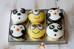 Oh my gosh. This is the best lot of cupcakes I have ever ever seen ever. Oh and did I mention, ever! SO ADORABLE!