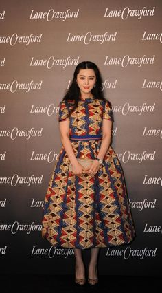 Fan Bing Bing top tier Chinese actress wearing Stella Jean dress at Lane Crawford new store opening event in Chengdu on 25 April ! Trendy Ankara Styles, Ankara Gown Styles, Ankara Dress, African Print Dresses, African Fashion Dresses, African Dress, African Prints, Ankara Fashion, African Inspired Fashion