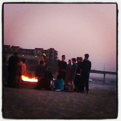 beach bonfire - Ocean Beach Pier