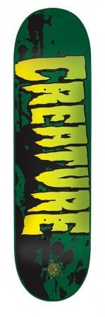 Creature 8.25in x 32.04in Stained MD Green Skateboard Deck