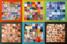 Art With Mr Hall: Rosalie Gascoigne Inspired Collage collage based on grid