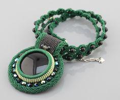 Beautiful micro macrame necklace.
