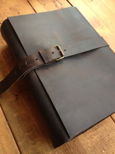 Hand crafted Leather  wedding book  guest by LUSCIOUSLEATHERNYC, $189.00