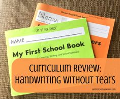 The BENT Kitchen: Curriculum Review: Handwriting Without Tears