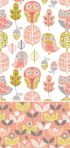 wendy kendall designs – freelance surface pattern designer » woody owl