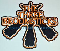 Harry Potter Scrapbook Die Cut The Wizarding World Of Three Broomsticks Title Universal Studios