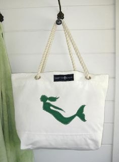 mermaid...made out of sail material and line!! So cute