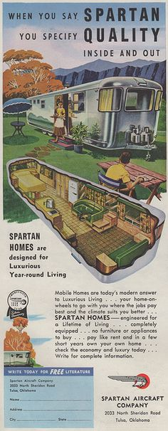 Fabulous color ad for the 1953 Spartan travel trailer.