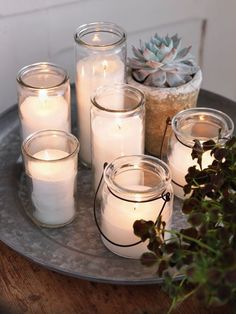 Memory Candles- beautiful grouped together in clusters....