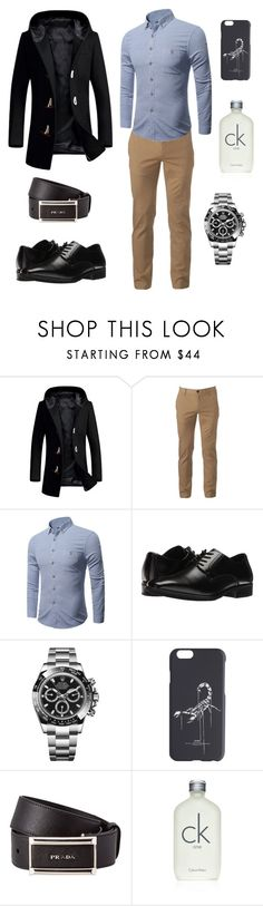 """MF 👑 4"" by milifrias ❤ liked on Polyvore featuring Urban Pipeline, Stacy Adams, Rolex, Off-White, Prada, Calvin Klein, men's fashion and menswear"