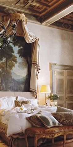 Painted Beds, French Interior Design, French Chateau, Home And Garden, House, Painting, Furniture, Gardens, Romantic