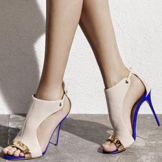 Shoespie Designer Color Block Dress Sandals