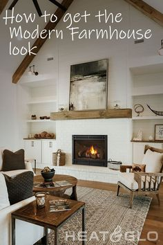 Home Bedroom, Home Living Room, Living Room Decor, Dining Room Inspiration, Home Decor Inspiration, Freestanding Fireplace, Tiny House Cabin, Small House Plans, Modern Farmhouse