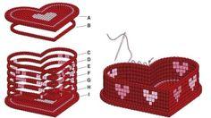 une boite en forme de cœur en 3D une belle idée cadeau pour la fête des mères