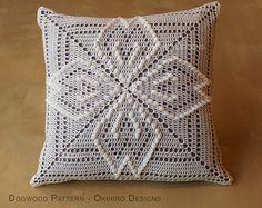 "Cornejo patrón 12"" Crochet cuadrados almohada - listo para nave - doble cara"
