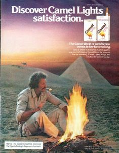 """1979 CAMEL CIGARETTES vintage magazine advertisement """"Discover Camel Lights"""" ~ Discover Camel Lights satisfaction. The Camel World of satisfaction comes to low tar smoking. ~"""