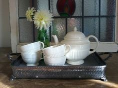 Upcycled metal casserole holder metal tray with by 4BabyandHome