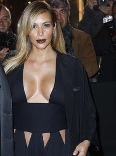 Kim Kardashian attends the 'Mademoiselle C' cocktail party at Pavillon Ledoyen on October 1, 2013 in Paris, France.