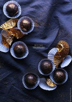 Rum Truffles / Image via: Bakers-Royale #sparkle #entertaining #gifts