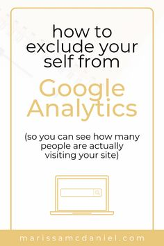 Looking to make your blog stats more accurate? Check out  this Google Analytics tutorial that goes over how to exclude yourself from your blog page views so you can see a more accurate blog traffic report. #websitetraffic #blogtraffic #tipsforbloggers #bloggingtipsforbeginners Google Analytics Dashboard, Web Analytics, Traffic Report, Internet Router, Memoir Writing, Blogger Tips, Blogging For Beginners, How To Start A Blog, Check