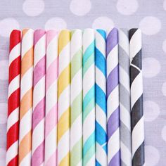 Rainbow Party Inspiration: 20 Colorful Ideas for Kids' Birthday Parties Polka Dot Party, Polka Dots, Paper Straws, Over The Rainbow, Animal Party, Wedding Designs, Wedding Ideas, Party Planning, Just In Case