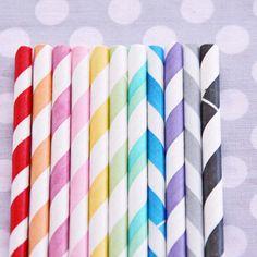 stripey paper straws
