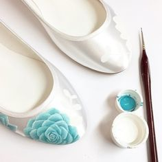 Hand-painted Wedding Shoes for unique brides Hand Painted Shoes, Wedding Shoes, Flats, Bride, Bhs Wedding Shoes, Loafers & Slip Ons, Wedding Bride, Bridal, Wedding Slippers