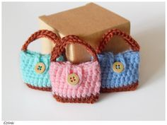 Items similar to Mini bag keychains. Mint Blue Pink coin purse for keys on Etsy Crochet Boots, Crochet Purses, Bead Crochet, Cute Crochet, Crochet Doll Dress, Crochet Barbie Clothes, Granny Square Stocking, Crochet Mignon, Crochet Keychain