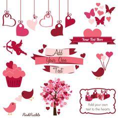 Valentines Day Clip Art Clipart Valentine Clip Art by PinkPueblo