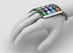 """""""uso orgânico"""" de um smartphone — acoplado à mão."""