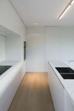 *kitchen design, modern, minimal interiors, all white look*