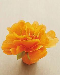 Decoração fácil de flores de papel de seda ~ VillarteDesign Artesanato