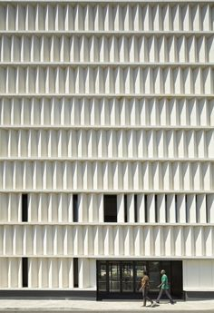 Angles louvers as solid facade